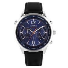 Relógio Vivara Masculino Couro Preto - DS13700R0T-1 by Vivara