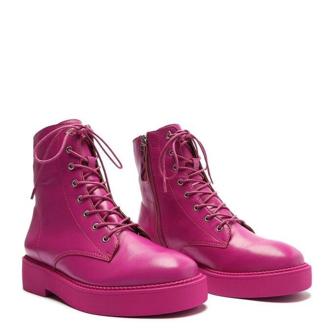 Bota Schutz Coturno Couro Pink