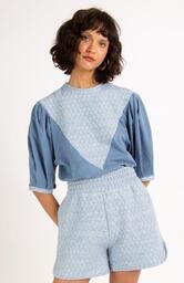 Blusa Le Molleton Nina Azul