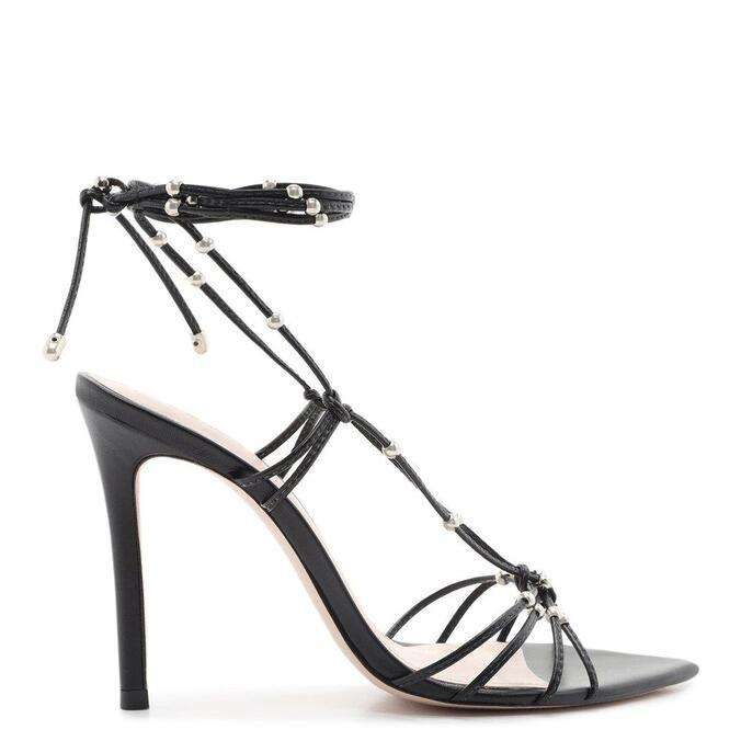 Sandália Schutz Strings Lace-Up Glam Black