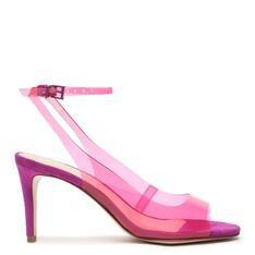 Sandália Schutz Vinil Slingback Pink