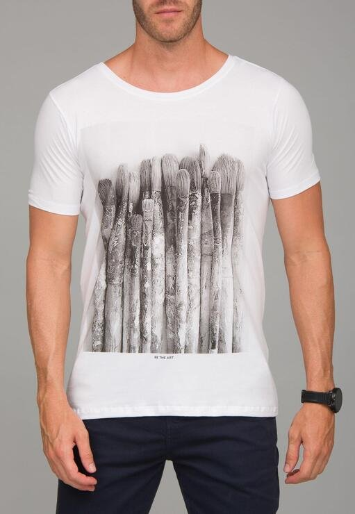Camiseta Be The Art Red Feather